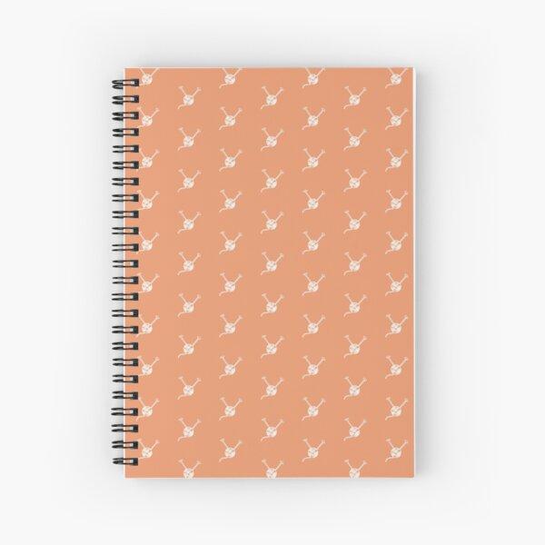 Cartoon yarn ball orange white  print Spiral Notebook