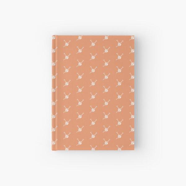 Cartoon yarn ball orange white  print Hardcover Journal