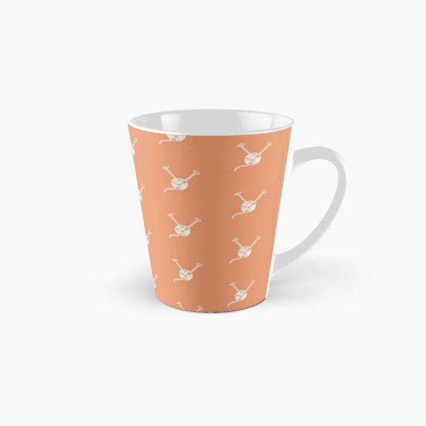 Cartoon yarn ball orange white  print Tall Mug