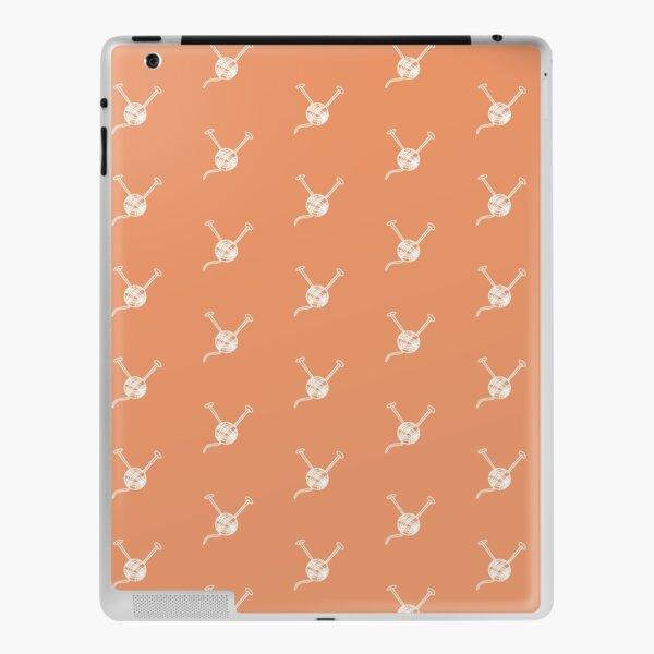 Cartoon yarn ball orange white  print iPad Skin