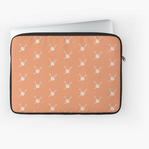 Cartoon yarn ball orange white  print Laptop Sleeve