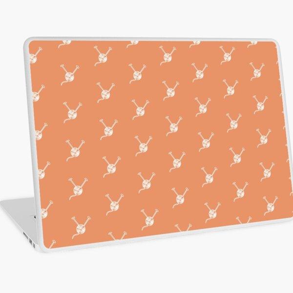 Cartoon yarn ball orange white  print Laptop Skin