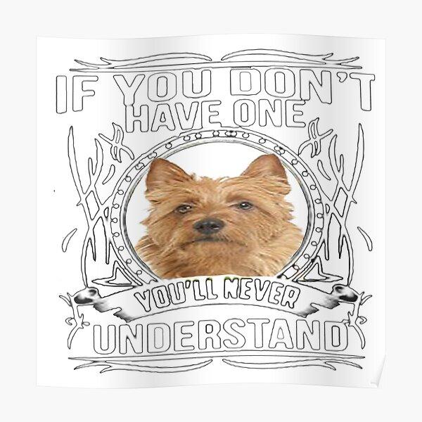 Australian  Terrier- Gift For Australian  Terrier Lovers Dog Breed Poster