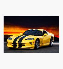 Dodge Competition Viper Photographic Print