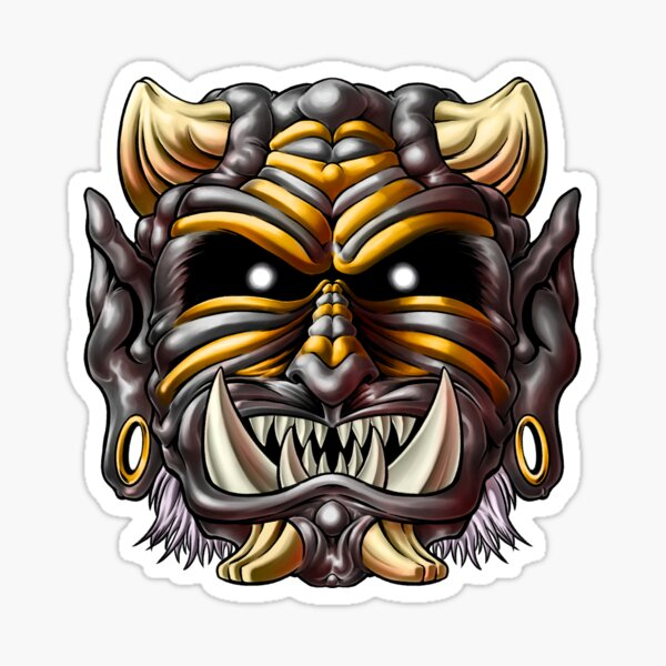 Black Oni Sticker