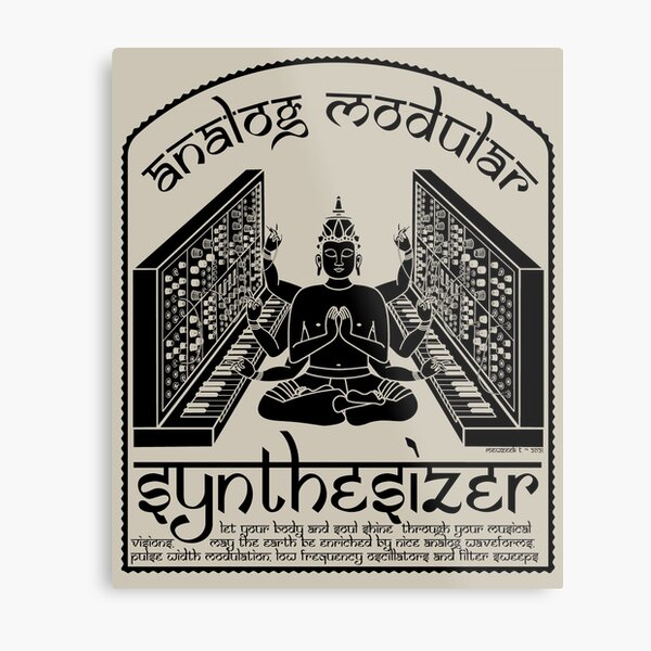 Synthétiseur modulaire analogique Dieu pour musicien électronique Impression métallique