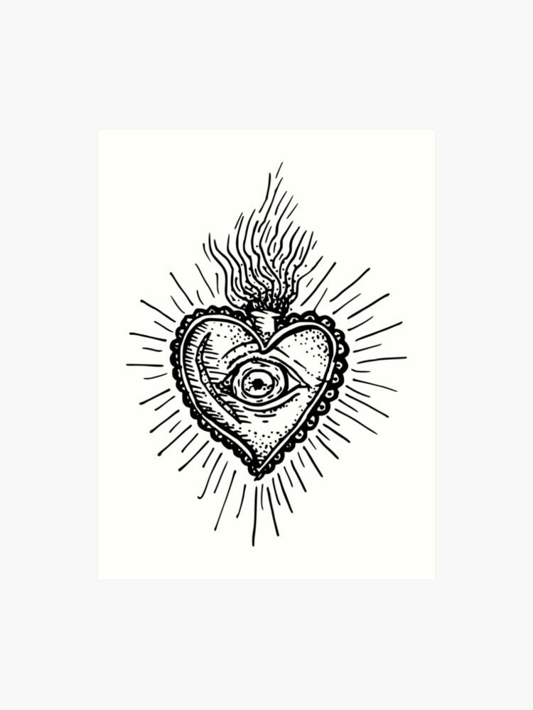 d71b364c1 Sacred Heart Tattoo Style