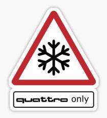 QUATTRO only! Sticker