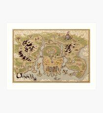 Unova Map Art Print