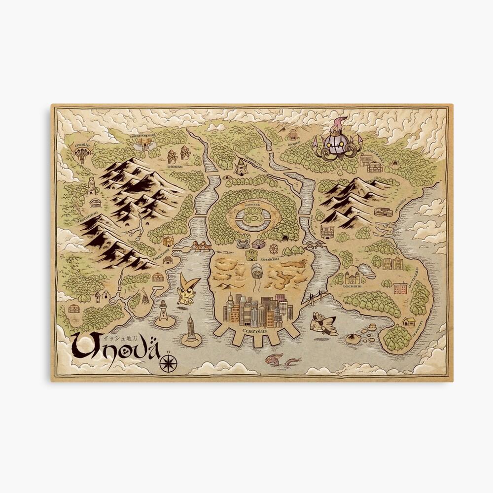 Unova Map Canvas Print