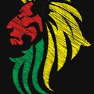 Lion Reggae Flag Colors  by Denis Marsili