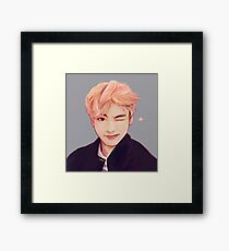 Blond Taehyung  Framed Print