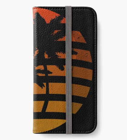 Palm Trees Grunge Sunset iPhone Wallet