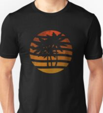 Palm Trees Grunge Sunset Unisex T-Shirt