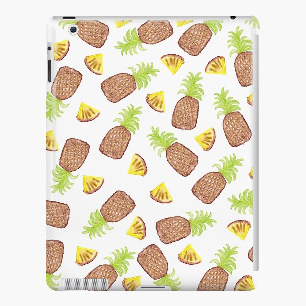 Hand Painted Watercolor Tropical Pineapples Funda y vinilo para iPad