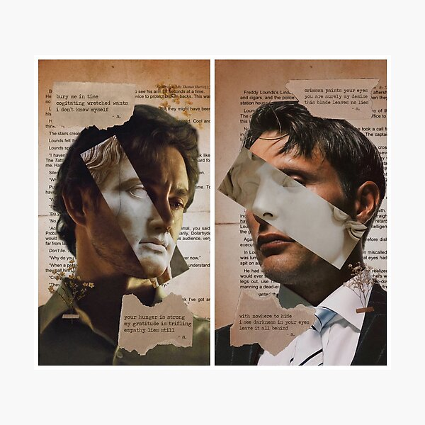 Secreted Love - A Will Graham & Hannibal Lecter Poetic Collage Photographic Print