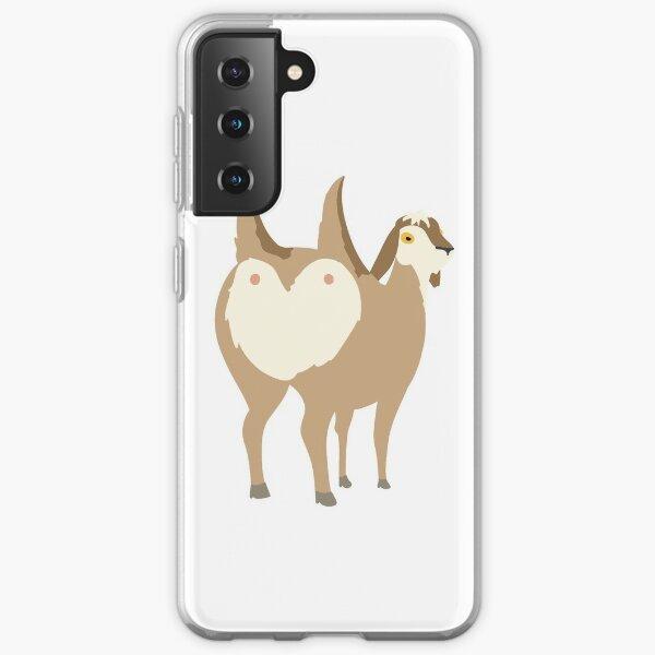Double butt goat Samsung Galaxy Soft Case