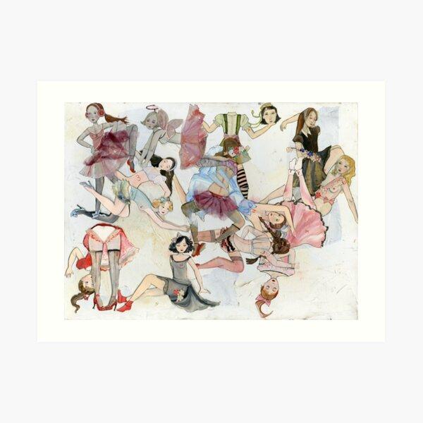 Girl Tangle Art Print