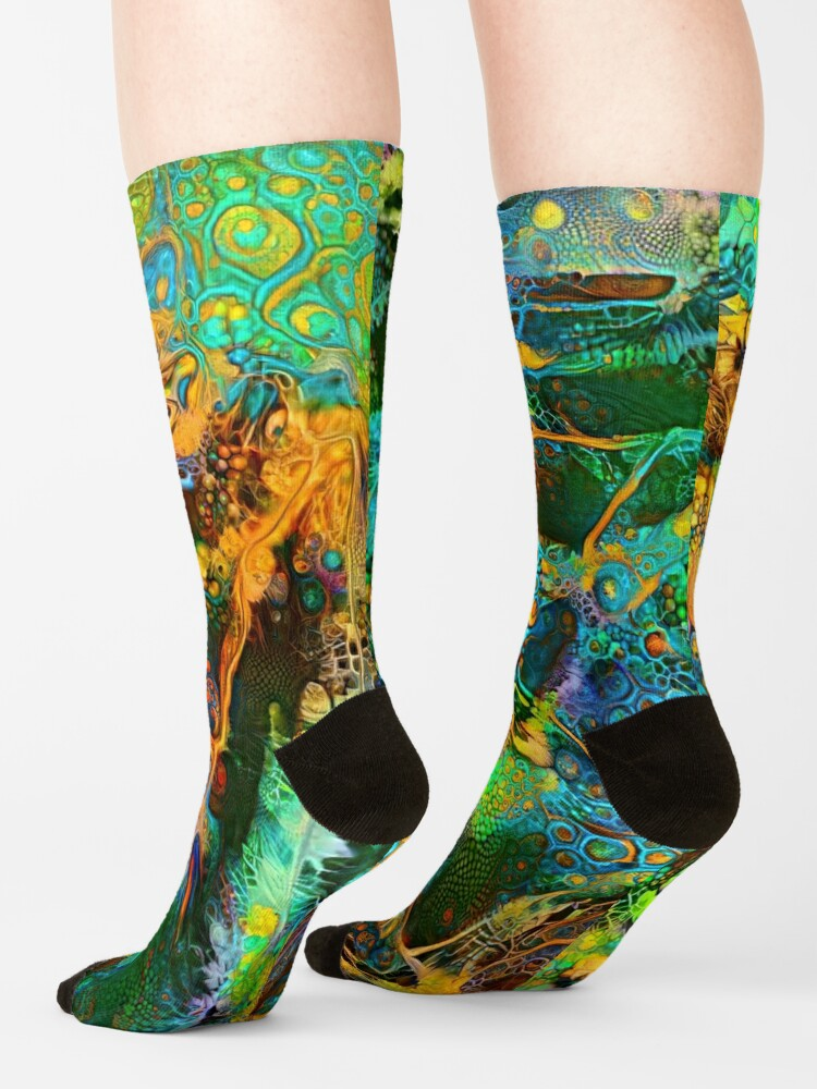Alternate view of Deepdream abstraction Socks
