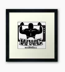 Wrestling Watching Club Glass Shatter BW Logo Framed Print