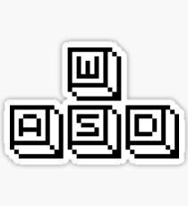 WASD Keys Black Sticker