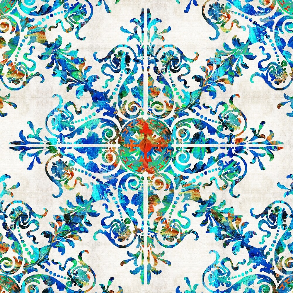 Colorful Pattern Art - Color Fusion Design 6 By Sharon Cummings by Sharon Cummings