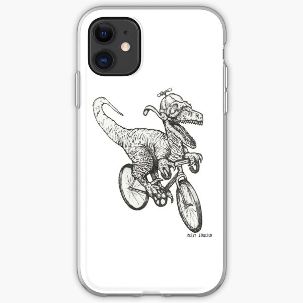 Steampunk Dinosaur on a Bicycle iPhone Soft Case