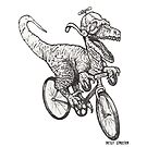 Steampunk Dinosaur on a Bicycle by betsystreeter