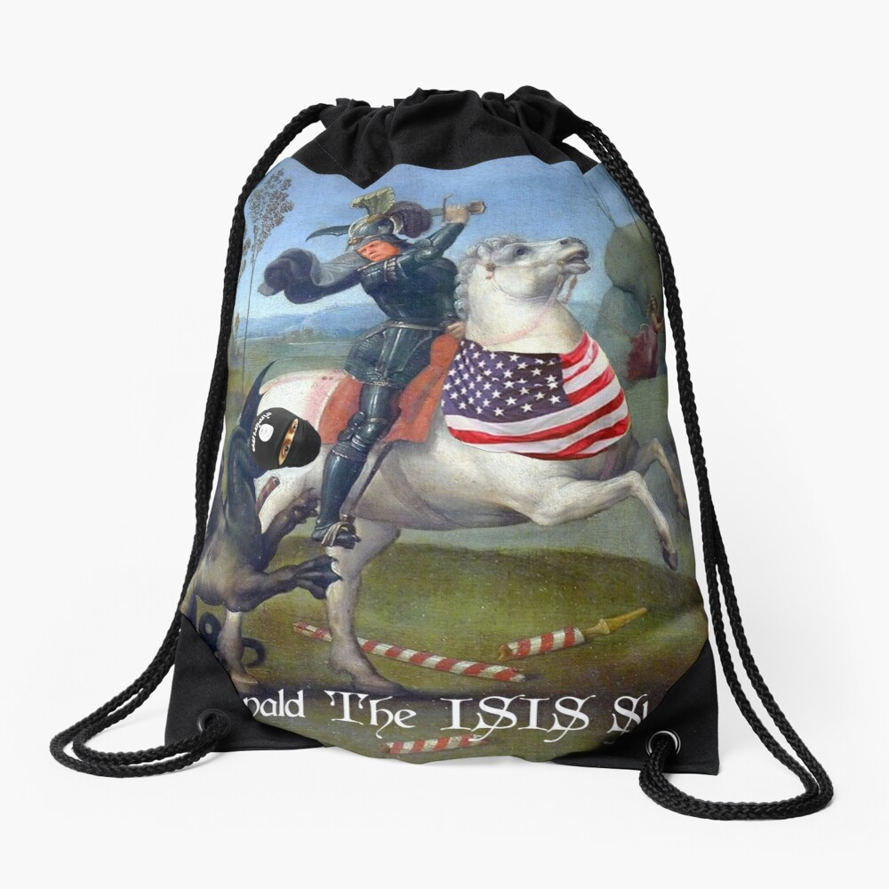 St. Donald The ISIS Slayer Drawstring Bag