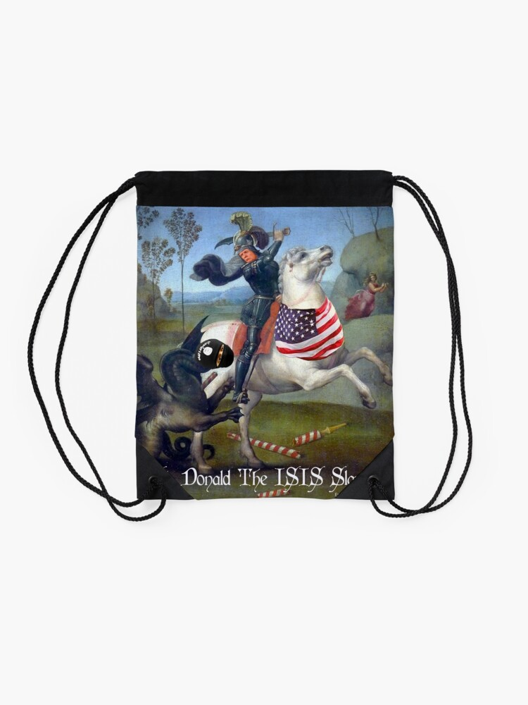 Alternate view of St. Donald The ISIS Slayer Drawstring Bag