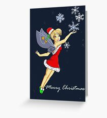 tinkerbell christmas Greeting Card