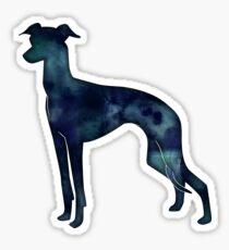 Italian Greyhound - Iggy - Black Watercolor Silhouette Sticker