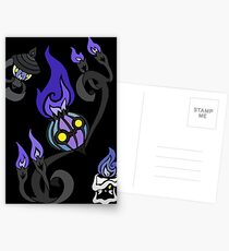 Flames of the Forgotten - Chandelure, Lampent and Litwick Postcards