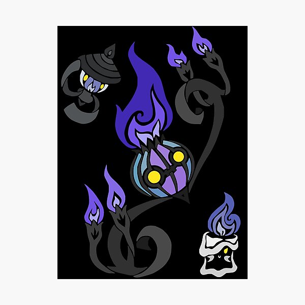 Flames of the Forgotten - Chandelure, Lampent and Litwick Photographic Print