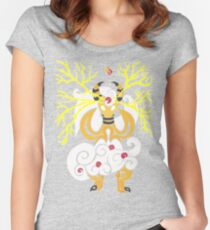 Tribalish Mega Ampharos - Eye of the Storm Fitted Scoop T-Shirt