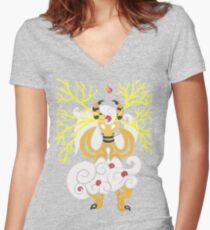 Tribalish Mega Ampharos - Eye of the Storm Fitted V-Neck T-Shirt