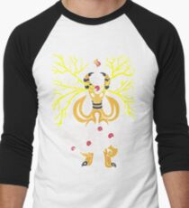 Tribalish Mega Ampharos - Eye of the Storm Baseball ¾ Sleeve T-Shirt