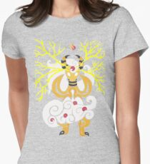 Tribalish Mega Ampharos - Eye of the Storm Fitted T-Shirt