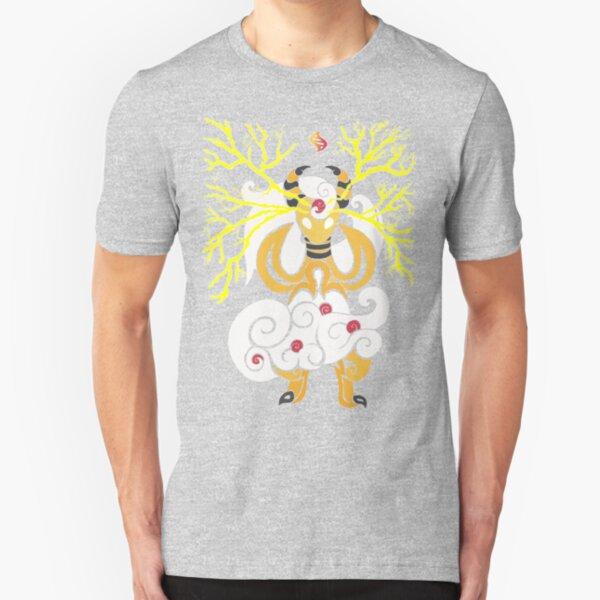 Tribalish Mega Ampharos - Eye of the Storm Slim Fit T-Shirt