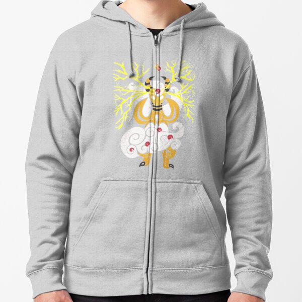 Tribalish Mega Ampharos - Eye of the Storm Zipped Hoodie