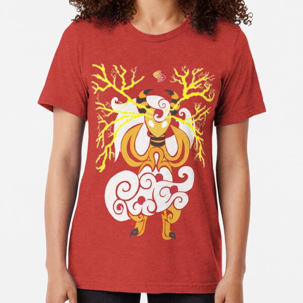 Tribalish Mega Ampharos - Eye of the Storm Tri-blend T-Shirt
