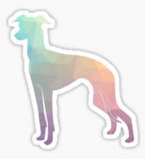 Italian Greyhound - Iggy - Colorful Geometric Pattern Silhouette - Pastel Sticker