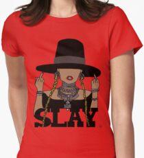 SLAY (Transparent BG) Women's Fitted T-Shirt