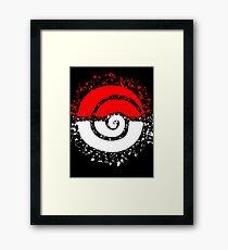 Splattered Tribalish Pokeball! Framed Print