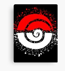 Splattered Tribalish Pokeball! Canvas Print