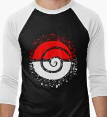 Splattered Tribalish Pokeball! Baseball ¾ Sleeve T-Shirt