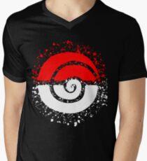 Splattered Tribalish Pokeball! V-Neck T-Shirt