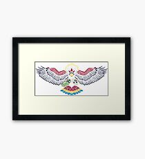 Colored Tribalish Braviary - The All-American Bird Framed Print