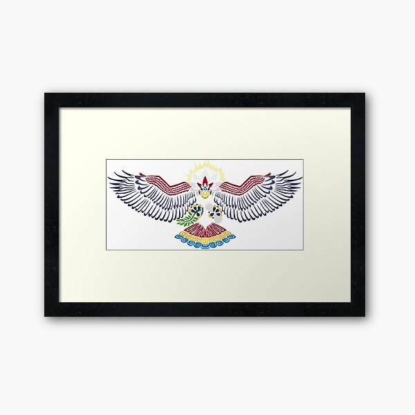 Colored Tribalish Braviary - The All-American Bird Framed Art Print