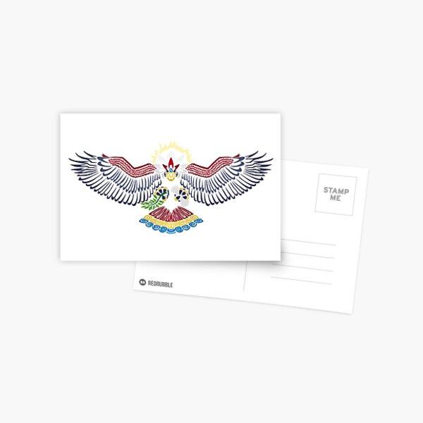 Colored Tribalish Braviary - The All-American Bird Postcard